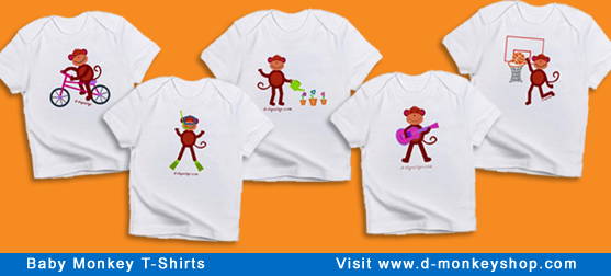 baby monkey t-shirts