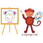 artist monkey t-shirt
