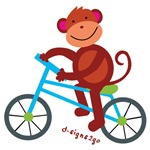 Biking Monkey t-shirts