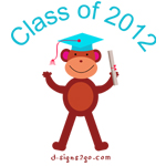 2012 graduation monkey t-shirta