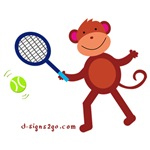 Sports Tennis Monkey t-shirts