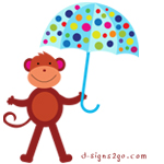umbrella Monkey  gifts