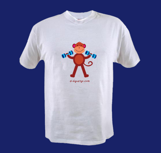 monkey weightlifting t-shirts