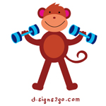 weightlifting Monkey t-shirts